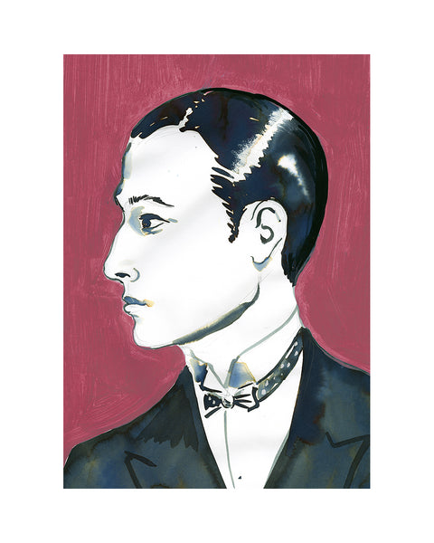 Painted Portrait- Rudolph Valentino