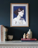Painted Portrait - Blue Virginia Woolf