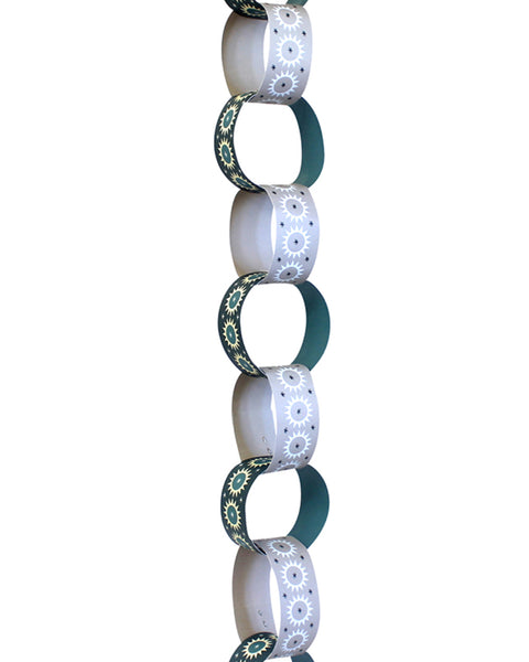 Paper Chain Garland Kit: Cathedral Ceiling (Teal & Powder Grey)