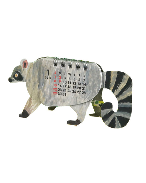 Animal Calendar Raccoon