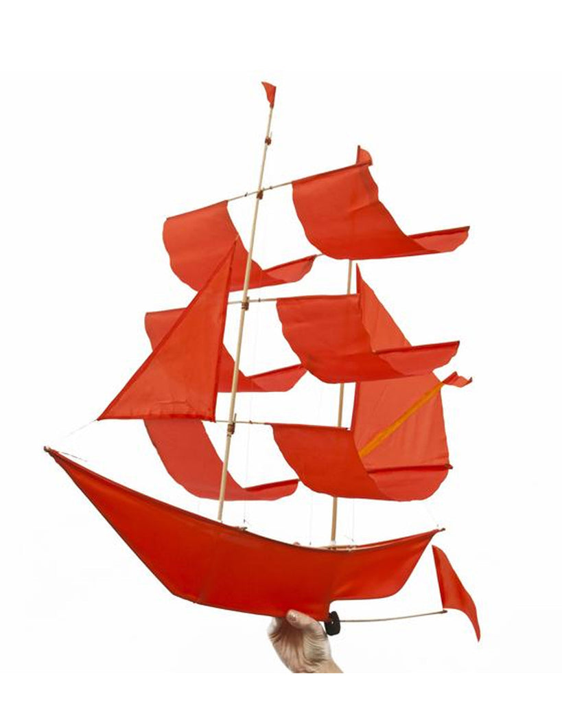 SAILING SHIP KITE RED