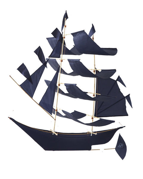 Extra Large SAILING SHIP KITE - INDIGO