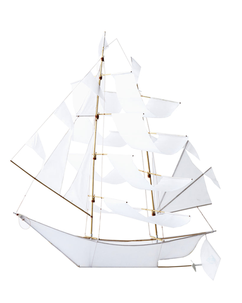Extra Large SAILING SHIP KITE - WHITE