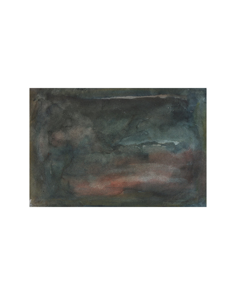 Denise Allan: Watercolour:  Storm at Dusk No2