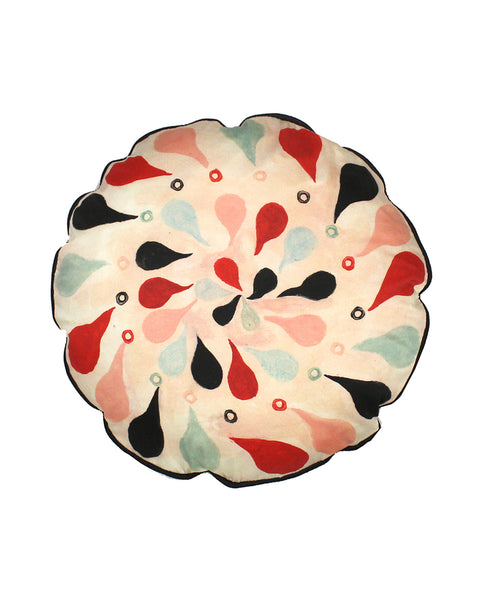 circular Cushion: Tear Drops