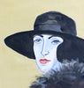 Original Painting - Vita in a Black hat (Framed)