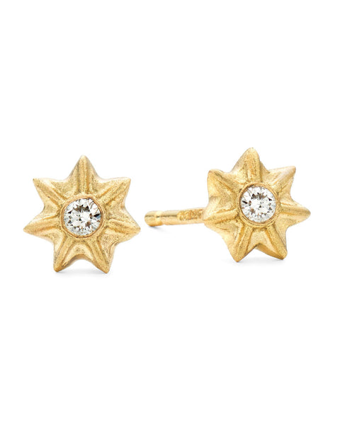V. WALKER POPPY SEED STUDS (gold)