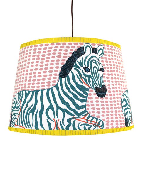 Painted Lampshade: THE GREEN ZEBRA