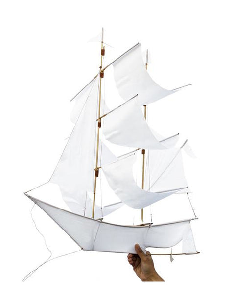 SAILING SHIP KITE WHITE