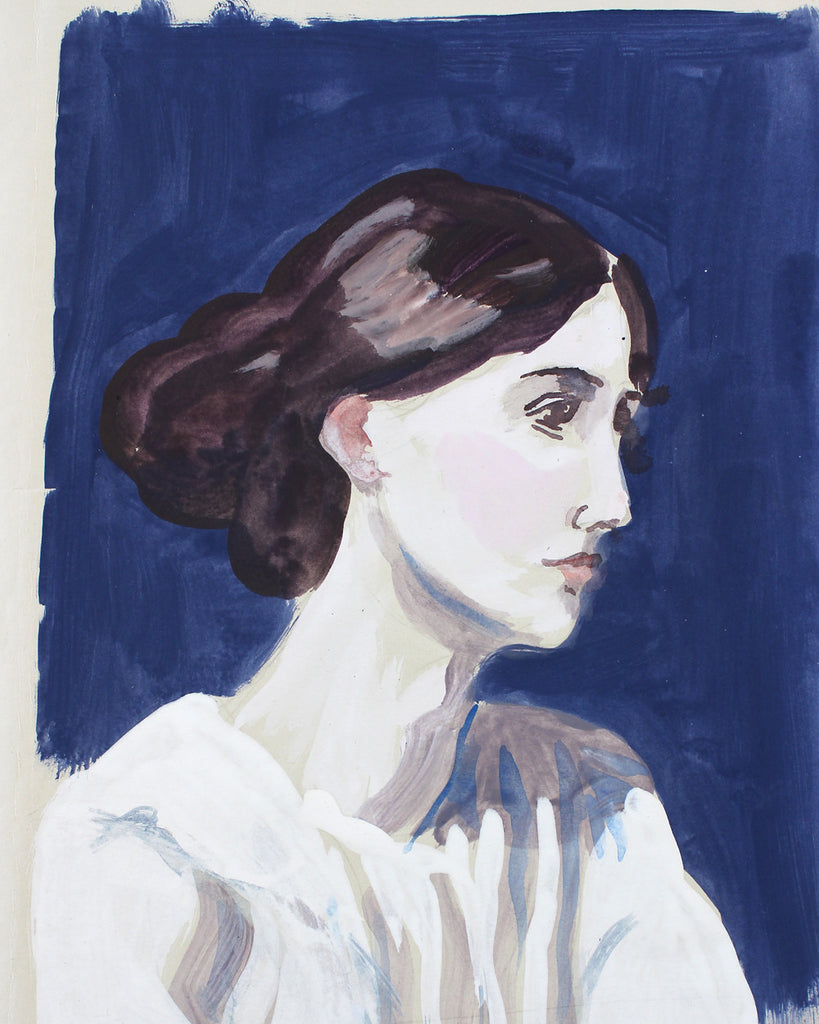 Painted Portrait 1 Virginia Woolf