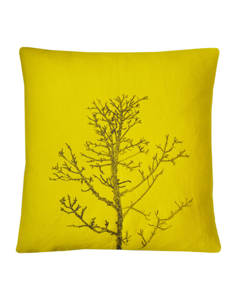 Winter Tree Yellow - cushion cover