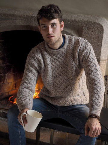Oatmeal Irish Aran Sweater