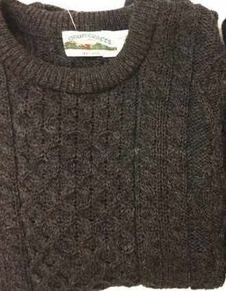 Charcoal Irish Aran Sweater