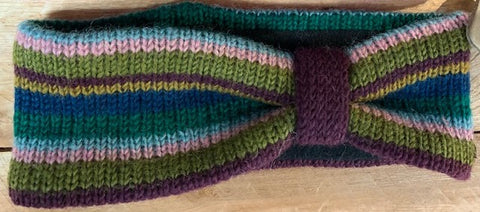 Knitted Stripey Head Bands