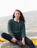 Moss Irish Aran Sweater