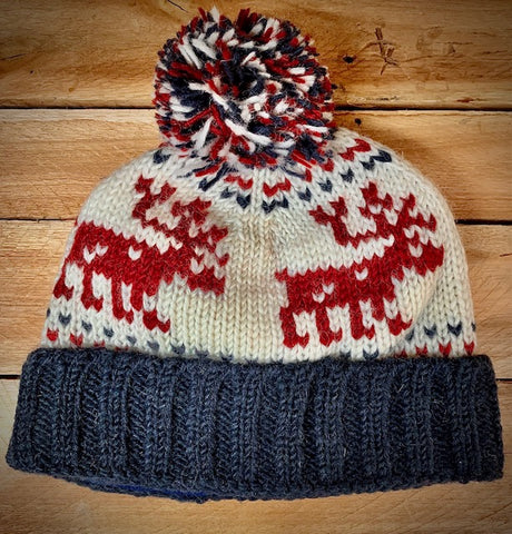 Hand Knitted Reindeer Hat