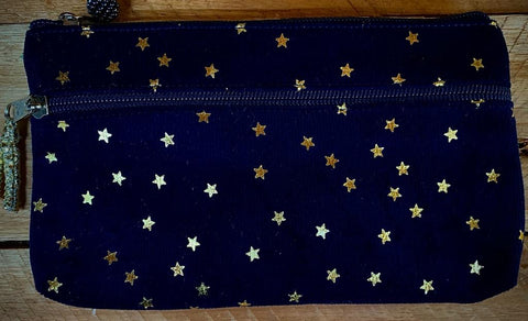 Gold stars small oblong bag