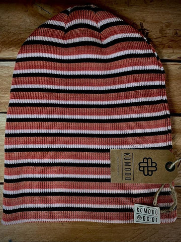 Komodo reversible hat - Black stripes