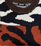 Camo Brown Colour Block Jumper