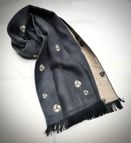 Elegant men's patterned scarf.