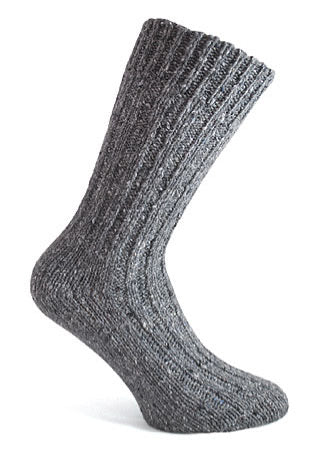 Grey Irish wool sock