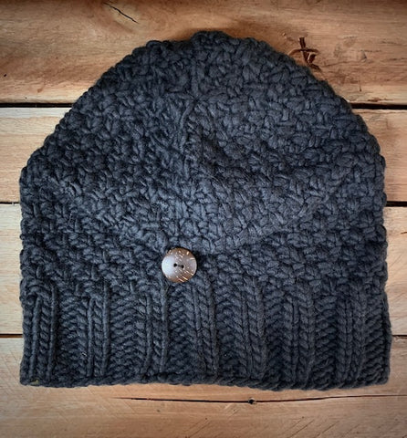 Floppy beret style knitted hat