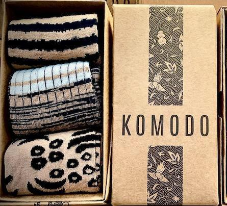 Komodo gift box of socks stripe