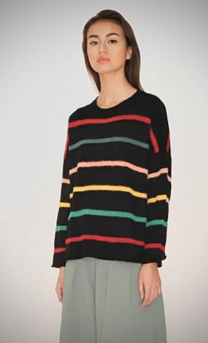 Women's stripey jumper