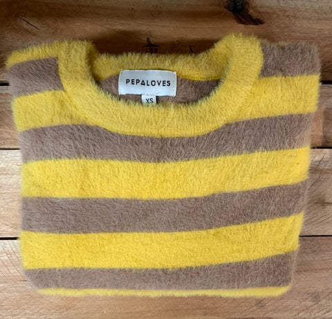 Stripey fluffy jumper