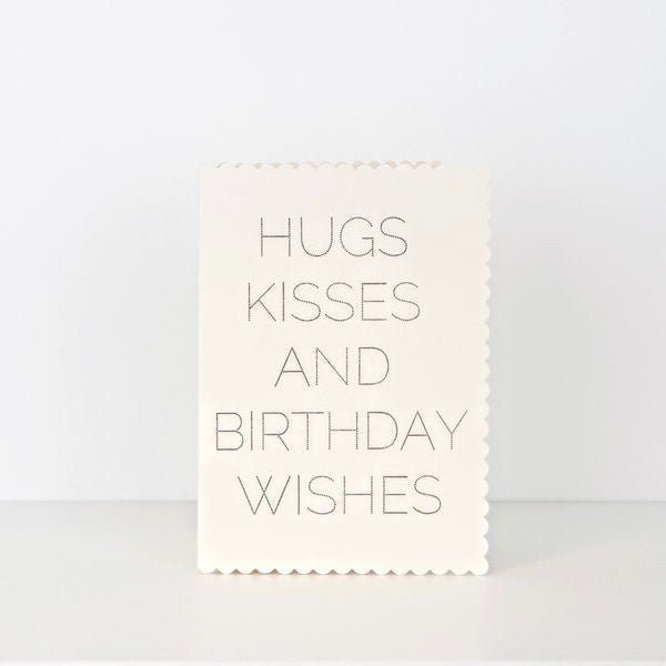 Katie Leamon / Geburtstagskarte 'Hugs Kisses and Birthday Wishes' / Grußkarte