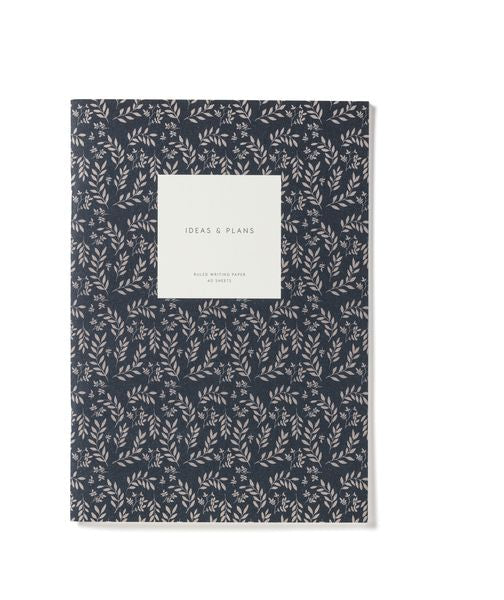NOTIZHEFT: 'IDEAS AND PLANS' | FLORAL | NAVY