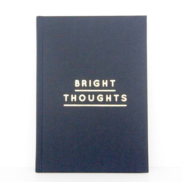 Navucko / Notizbuch 'Bright Thoughts' / Goldfolie / blank / gebundenes Notizbuch