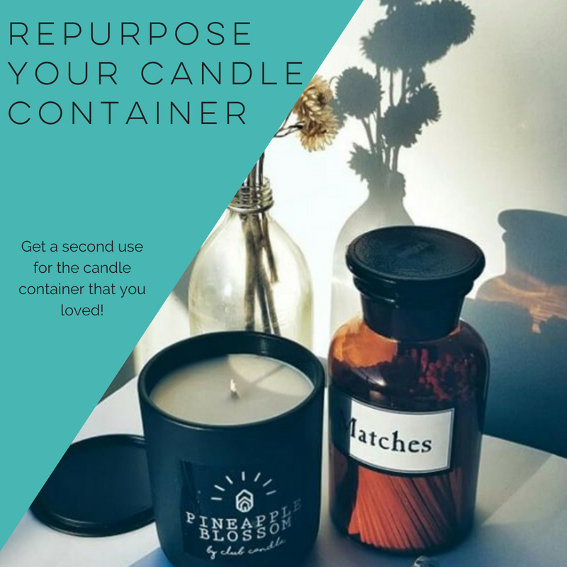 Repurpose your candle container