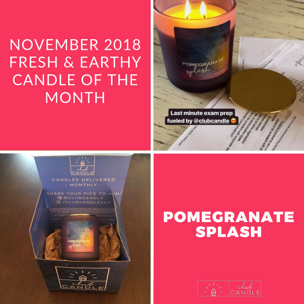 Candle of the Month – Pomegranate Splash