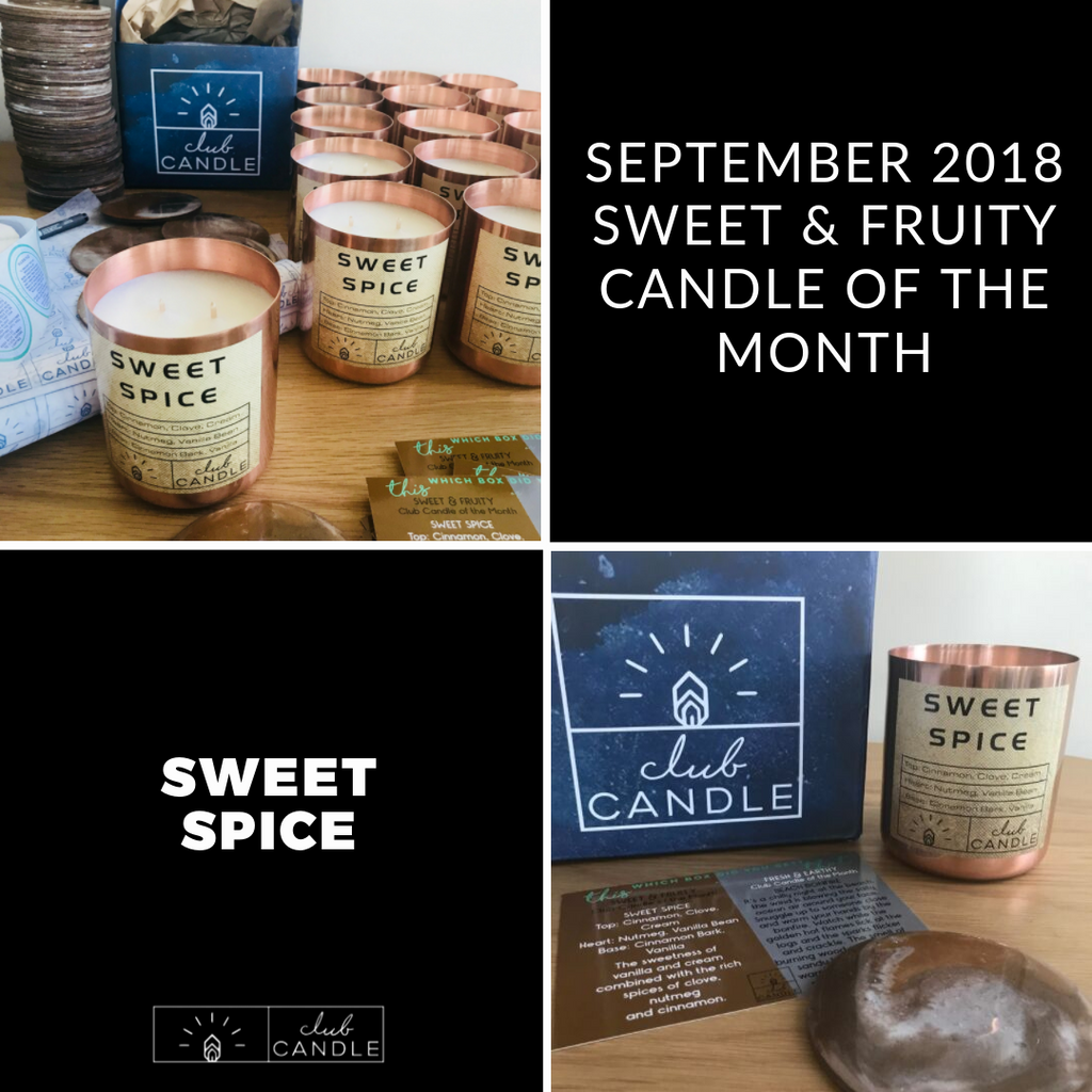 Candle of the Month – Sweet Spice
