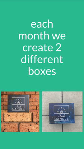 each month we create 2 different boxes