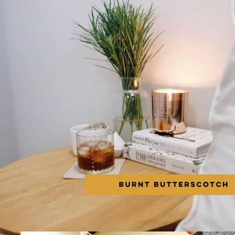 Our Burnt Butterscotch was our Club Candle of the Month for August with a creamy and luscious aroma to make even the chilliest of days seem warm and comforting