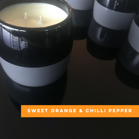 Sweet Orange and Chilli Pepper Club Candle of the month