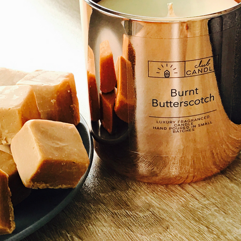 you'll want to snuggle up with a cosy blanket and light this fragranced candle all month long. We poured in a rich butterscotch bronze vessel to perfectly match this months scent.