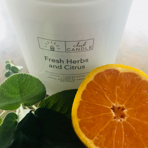 Fresh Herbs and Citrus Club Candle of the Month