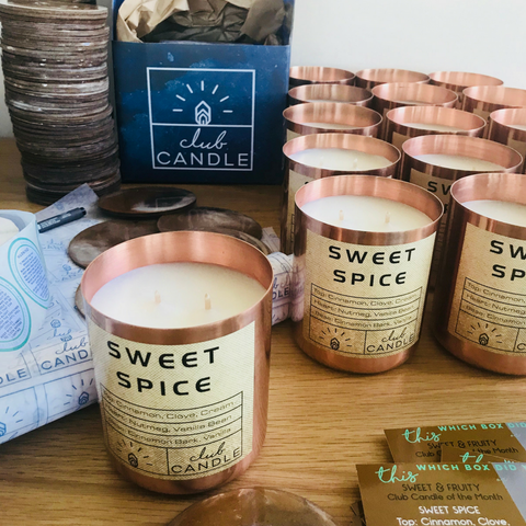club candle sweet spice