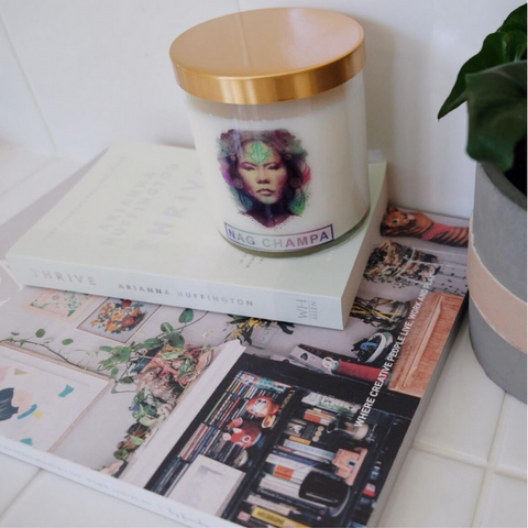 With a unique and powerful aroma our Nag Champa is the ultimate meditative candle, with black pepper, cinnamon, sandalwood and champa flowers, the scent is hypnotic.