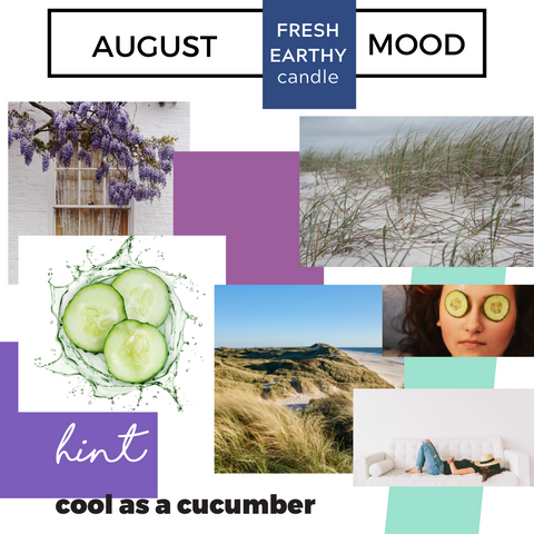 August Club Candle Mood Fresh and Earthy