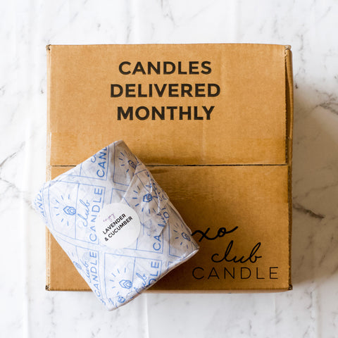 Candles delivered monthly Lavender and Cucumber