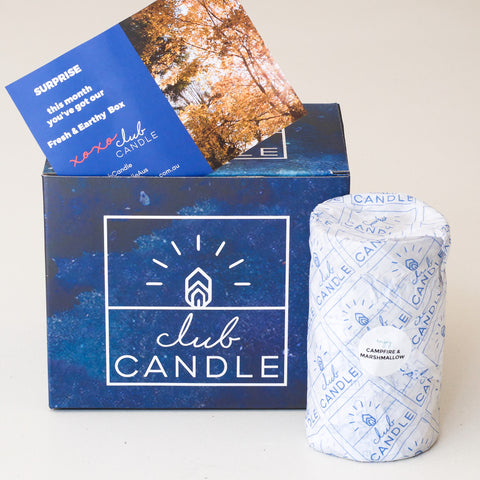 Fresh and Earthy Candle Campfire and Marshmallow