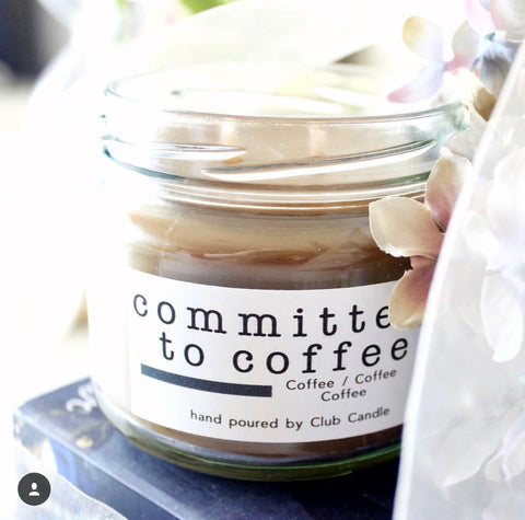 Committed to Coffee Club Candle