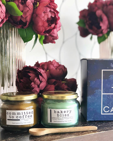 Bakery Bliss and Committed to Coffee Club Candle double pack