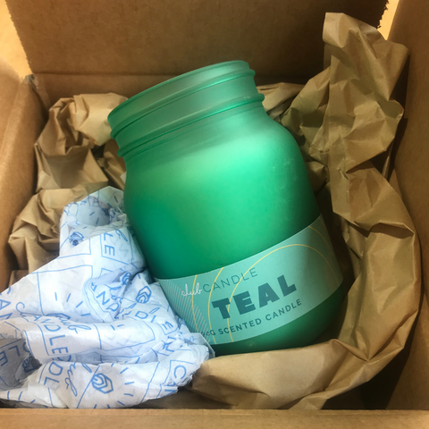 Candle of the Month – Teal Candle