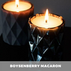 Boysenberry and Macaron Candle