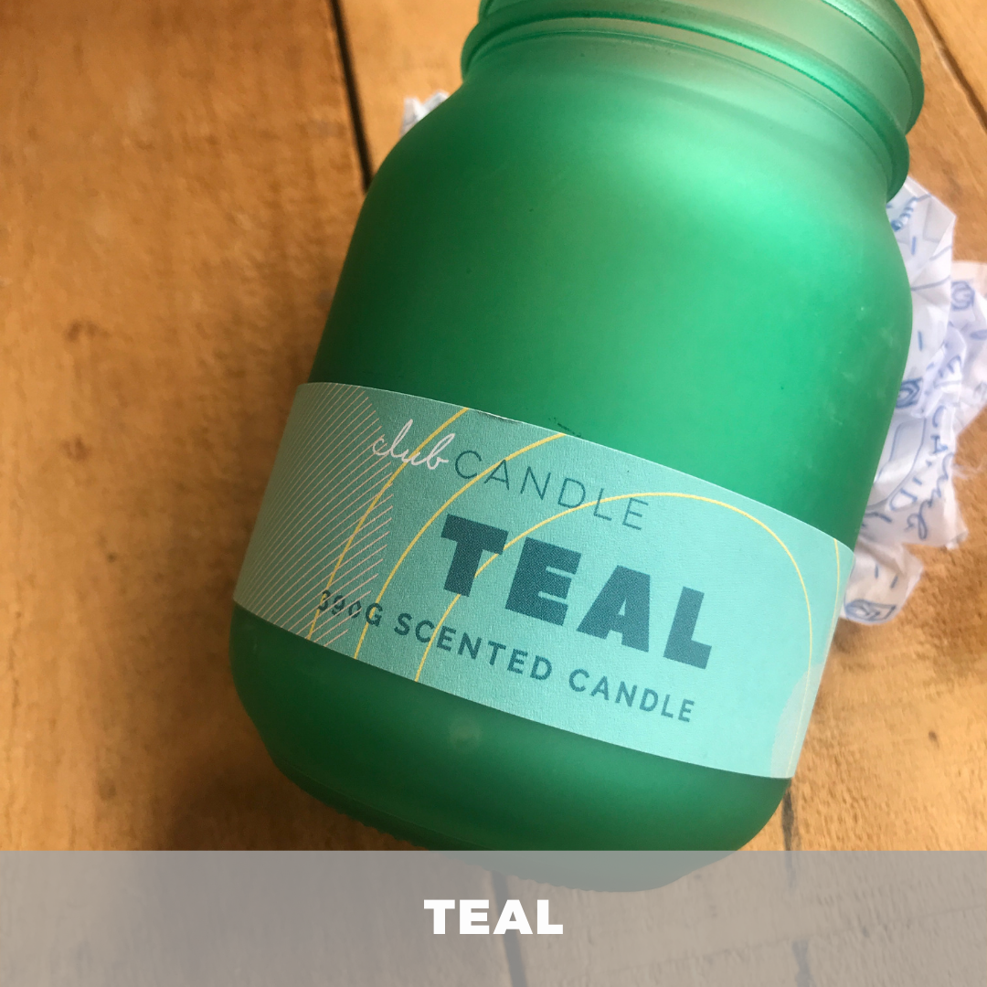 Teal Candle